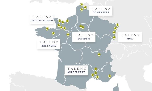 Réseau Talenz Caret implantatiosns expertise comptable national